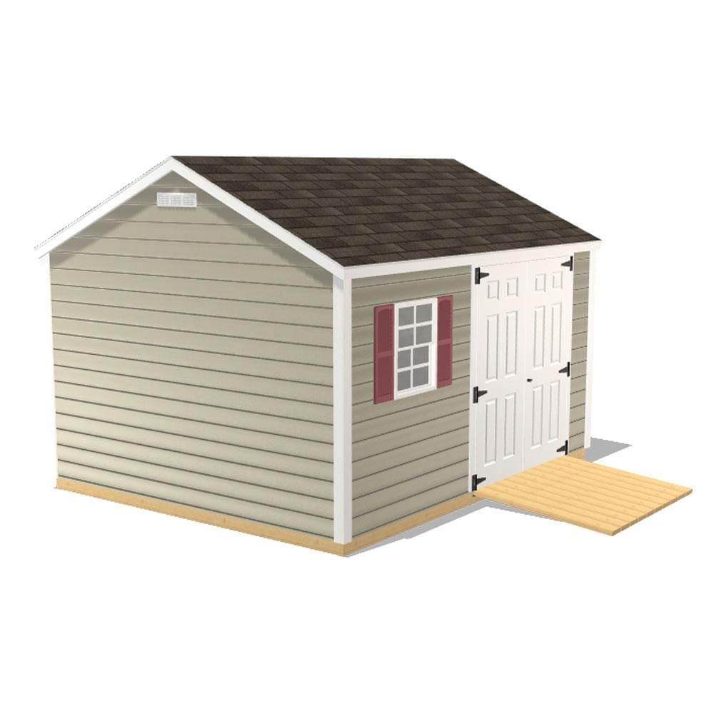 Chateau Preconfigured 10x12 Shed from New England Outdoor Sheds