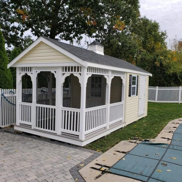 Sheds with Attached Pavilions New England