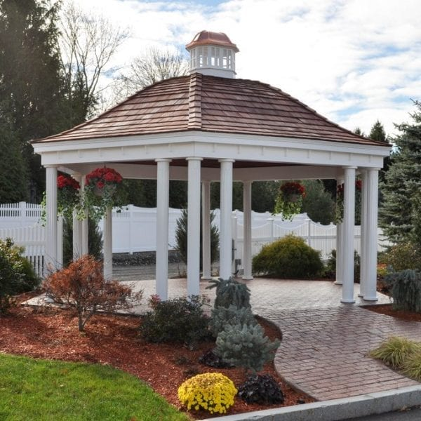Custom Built Hexagon Shaped Pavilions MA NH