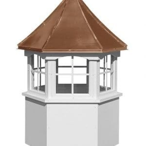 Hexagon Style Wood & Vinyl Cupolas