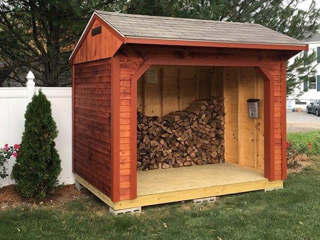 Custom Built Firewood Sheds MA NH