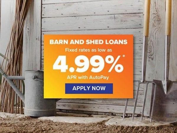 Shed & Garage Financing New England