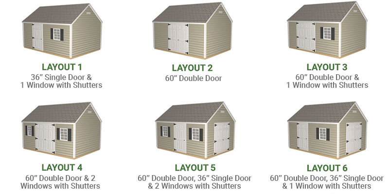 Shed Layout Options - NE Outdoor