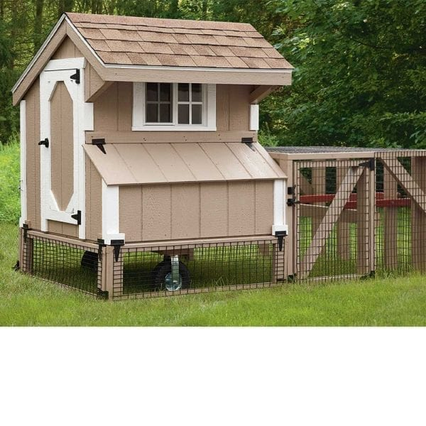 Tractor Chicken Coop with Run