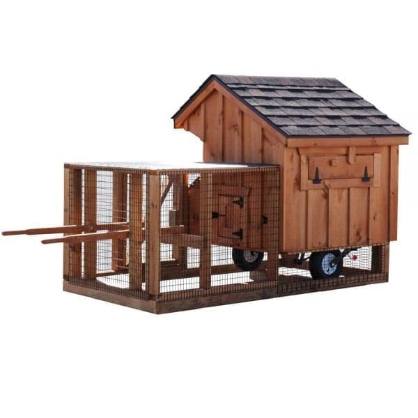 Solid Wood Chicken Coops with Wheels
