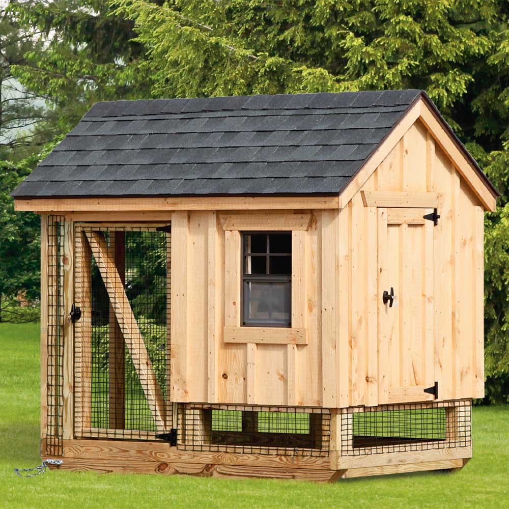 4x6 Wood Chicken Coops MA NH RI ME
