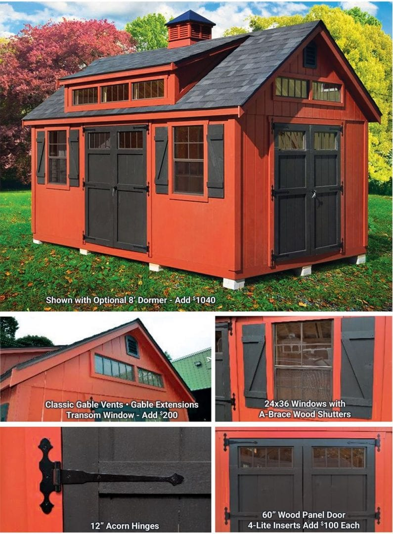 Ponderosa Shed Features & Options