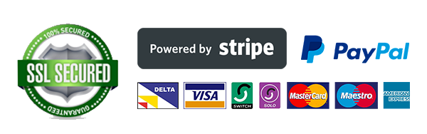 Secure Payments via Stripe or Paypal